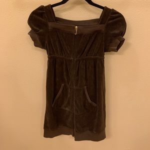 Juicy Couture Size 12 Brown Short Sleeve Dress
